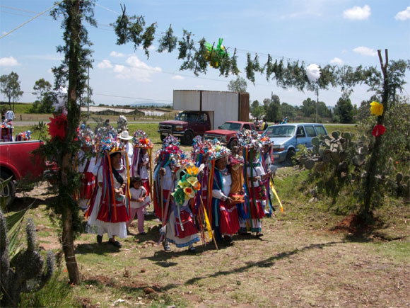 Arribo de Las Pastoras a la fiesta.  Foto: Maricela González Cruz Manjarrez