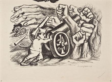 Anguiano, Francisco Franco, 1938, litografía