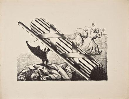Zalce, Fascismo, 1938, litografía