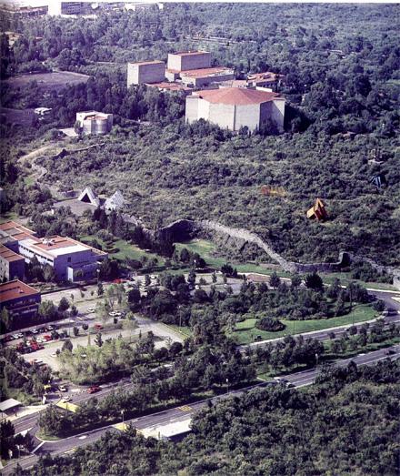 Ciudad de las Humanidades y el Centro Cultural Universitario. Archivo Fotográfico IIE-UNAM