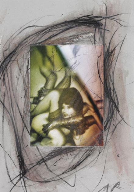 Rainer, Pierre Molinier Übermalung. Galería Christophe Gaillard. Photographie: Rurik Dmitrienko