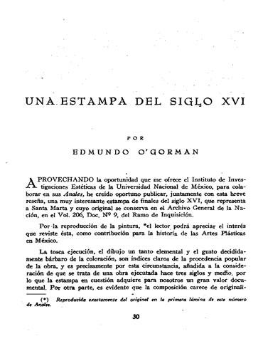 O'Gorman para Anales